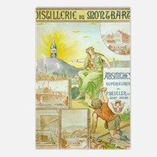 Distillerie du Montbart Absinthe Postcards (Packag