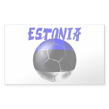 Estonia Football Sticker (Rectangle)