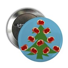 "Meat Christmas Tree 2.25"" Button"