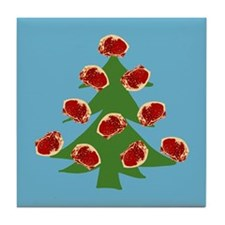 Meat Christmas Tree Tile Coaster