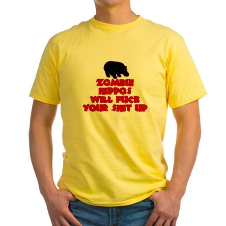 Zombie Hippos Yellow T-Shirt