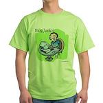 Blog Junkie #3 Green T-Shirt
