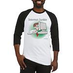 """Internet Junkie"" #1 Baseball Jersey"