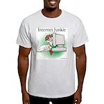 """Internet Junkie"" #1 Ash Grey T-Shirt"