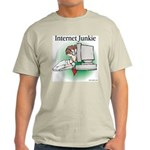 """Internet Junkie"" #1 Ash Grey T-Shirt"