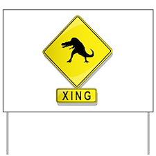 Tarbosaurus XING Yard Sign