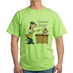 """""""Internet Junkie"""" #2 Green T-Shirt"""