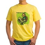 """Internet Junkie"" #3 Yellow T-Shirt"