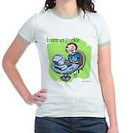 """Internet Junkie"" #3 Jr. Ringer T-Shirt"