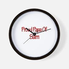 Proud Papa of Sam Wall Clock