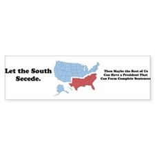 Let the South Secede Bumper Bumper Sticker