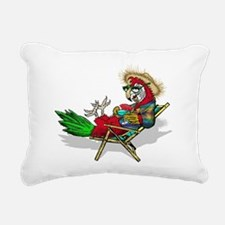 Parrot Beach Chair Rectangular Canvas Pillow