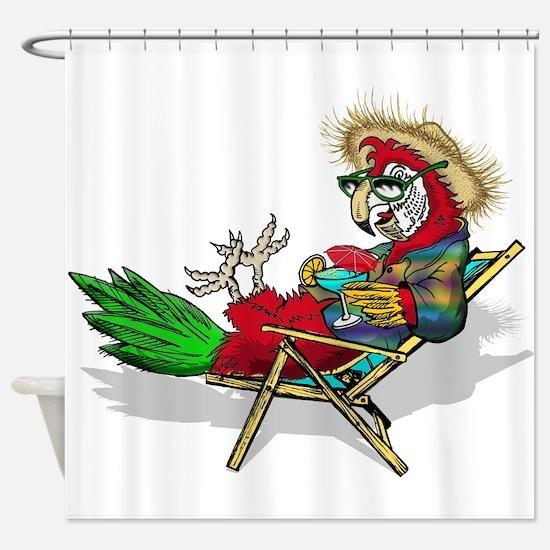 Parrot Beach Chair Shower Curtain