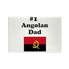 #1 Angolan Dad Rectangle Magnet