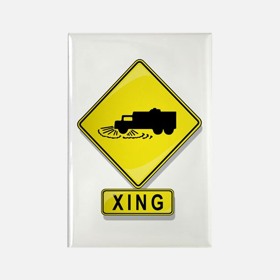 Street Cleaner XING Rectangle Magnet