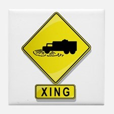 Street Cleaner XING Tile Coaster
