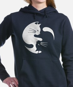 Cat yin yang T-shirt Women's Hooded Sweatshirt