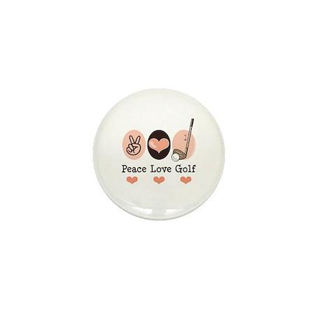 Peace Love Golf Golfing Mini Button (100 pack)