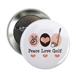 Peace Love Golf Golfing 2.25