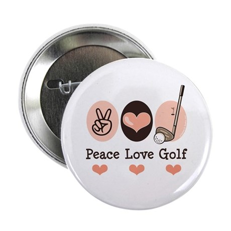 "Peace Love Golf Golfing 2.25"" Button (100 pack)"