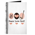Peace Love Golf Golfing Journal
