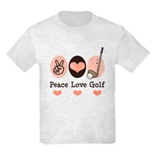 Peace Love Golf Golfing T-Shirt