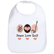 Peace Love Golf Golfing Bib