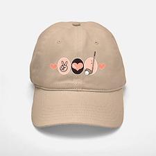 Peace Love Golf Golfing Baseball Baseball Cap