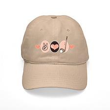 Peace Love Golf Golfing Baseball Cap