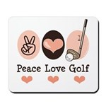Peace Love Golf Golfing Mousepad