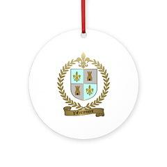 d'ENTREMONT Acadian Crest Ornament (Round)