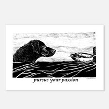 Pursue Your Passion Curly Coated Retriever Postcar
