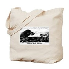 Pursue Your Passion Curly Coated Retriever Tote Ba