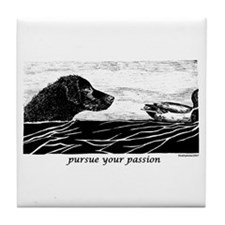 Pursue Your Passion Curly Coated Retriever Tile Co