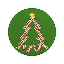 """Bacon Christmas Tree 3.5"""" Button"""