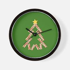 Bacon Christmas Tree Wall Clock