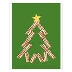 Bacon Christmas Tree Small Poster