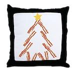 Bacon Christmas Tree Throw Pillow