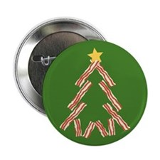 "Bacon Christmas Tree 2.25"" Button"