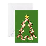 Bacon Christmas Tree Greeting Cards (Pk of 20)