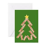 Bacon Christmas Tree Greeting Cards (Pk of 10)