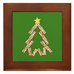 Bacon Christmas Tree Framed Tile