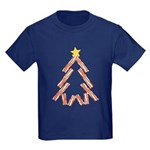 Bacon Christmas Tree Kids Dark T-Shirt