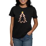 Bacon Christmas Tree Women's Dark T-Shirt