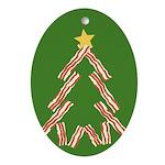 Bacon Christmas Tree Ornament (Oval)