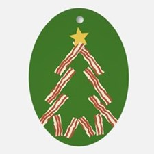 Bacon Christmas Tree Ornament (Oval)