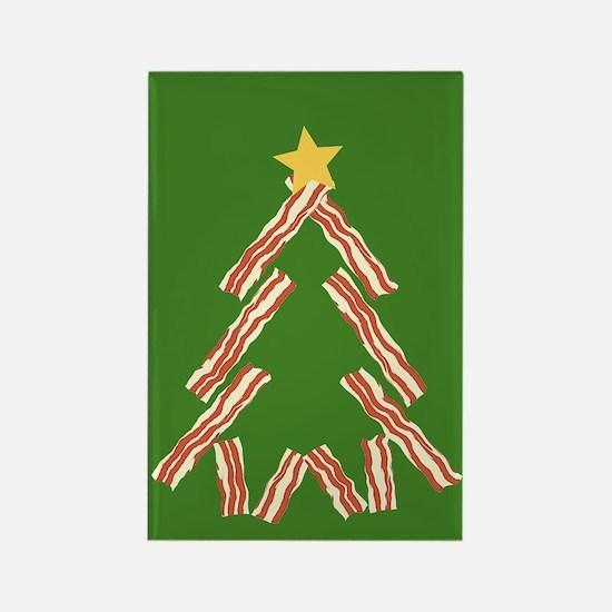 Bacon Christmas Tree Rectangle Magnet
