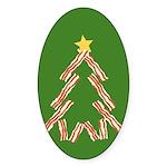 Bacon Christmas Tree Sticker (Oval)