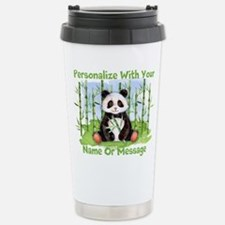 PERSONALIZED Panda With Bamboo Travel Mug