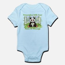 PERSONALIZED Panda With Bamboo Body Suit